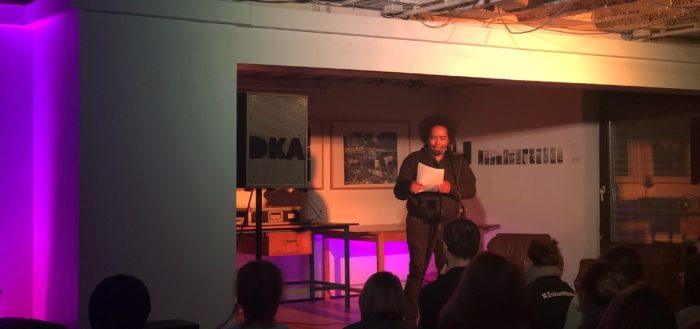 Ali Schwarzer beim WORD UP! Newcomer Slam