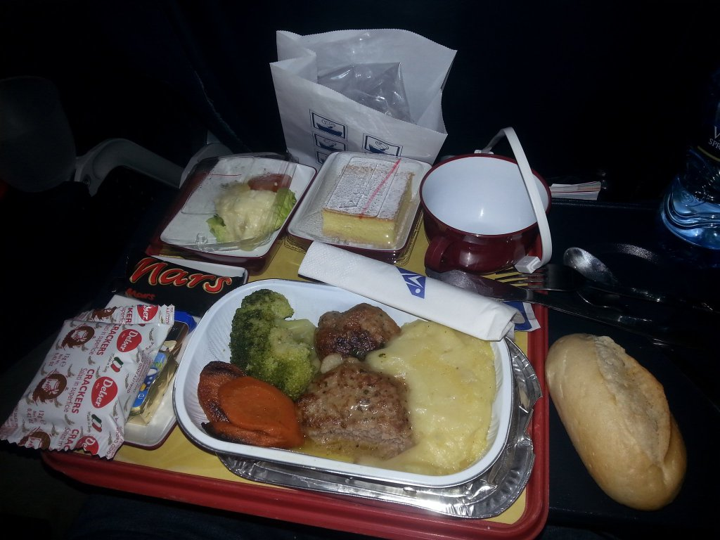 Abendessen bei South African Airways