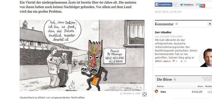 Karikatur in der FAZ: Mit Voodoo gegen Ärztemangel