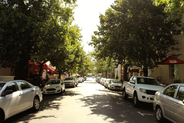 Straße in Stellenbosch