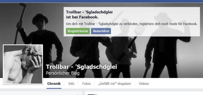 Trollbar bei Facebook