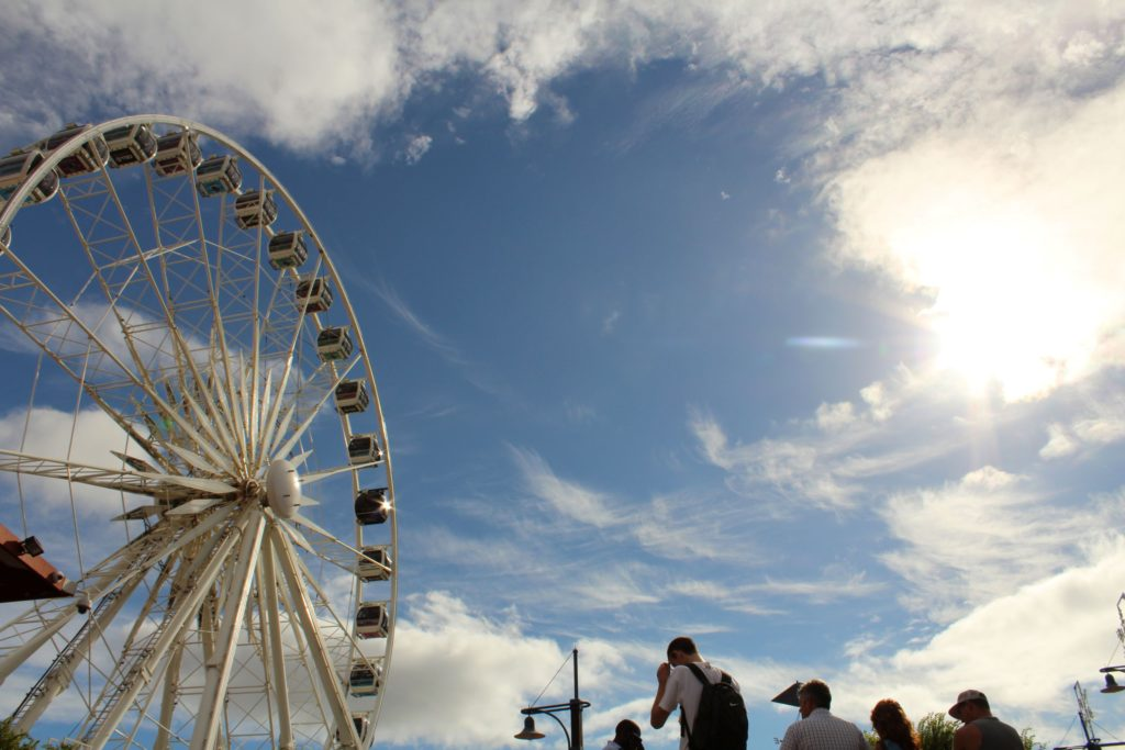 Riesenrad an der Waterfront